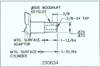 small engine suppliers engine specifications and line drawings av520 290634