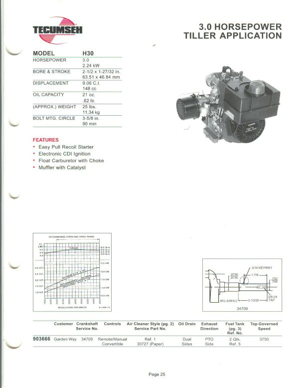 small engine suppliers engine specifications and line drawings for rh smallenginesuppliers com Tecumseh Engine Illustrated Parts Breakdown Tecumseh 10 HP Engine Specifications