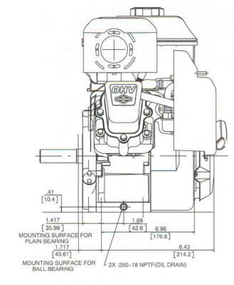 5 5 hp powerbuilt ohv model series 126400 for 5 hp motor specification