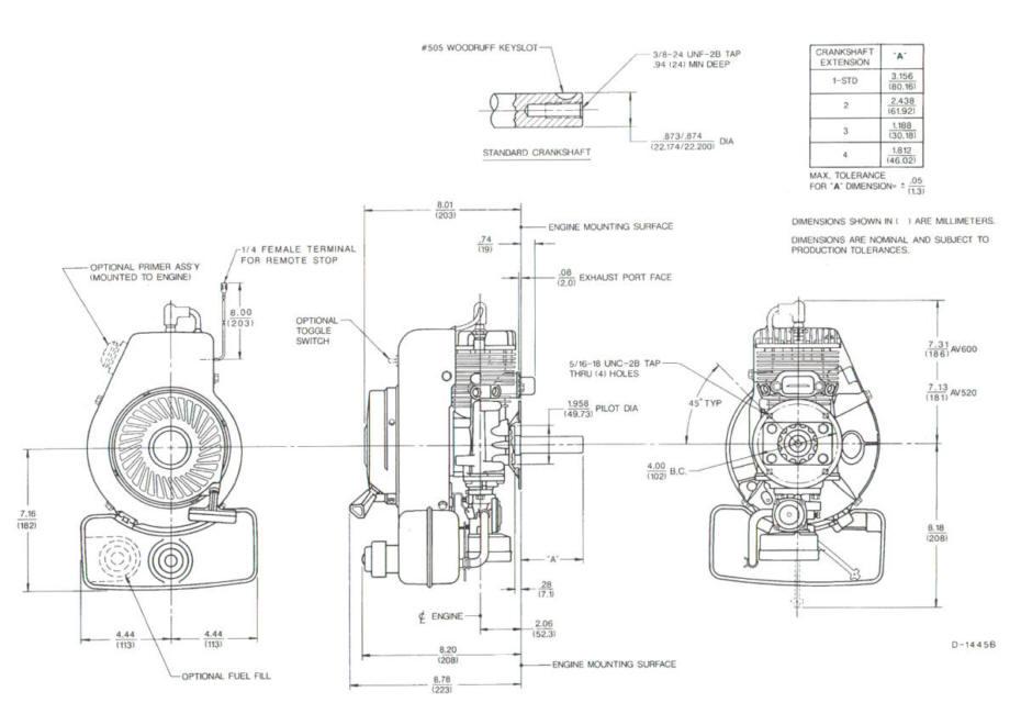 briggs and stratton 6 hp engine