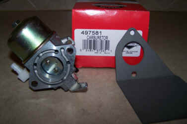 Briggs Stratton Carburetor Part No. 497581