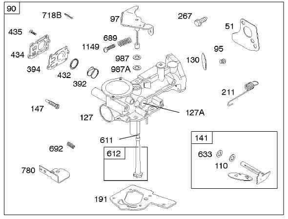 Briggs Stratton Carburetor Part No. 796227