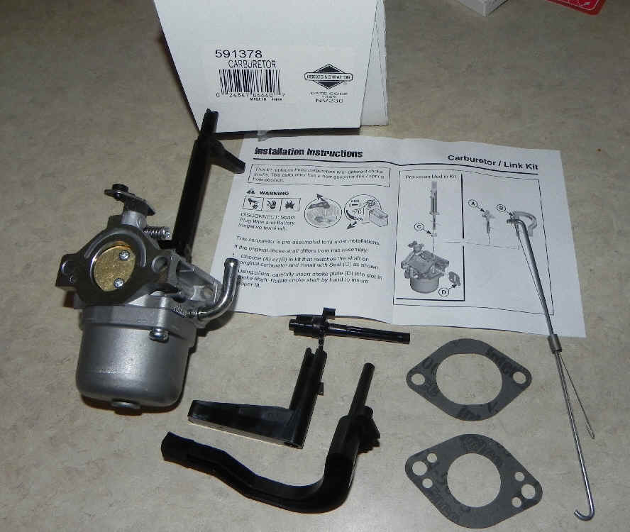 Briggs Stratton Carburetor Part No. 591378