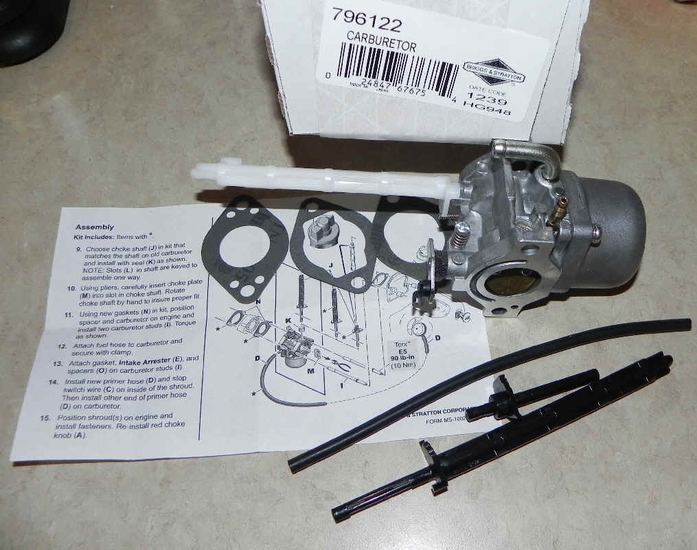 Briggs Stratton Carburetors For Small Engines Engine Model 128802 Carburetor Part No 796122