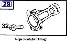 Briggs Stratton Piston and Connecting Rod Part No. 590406
