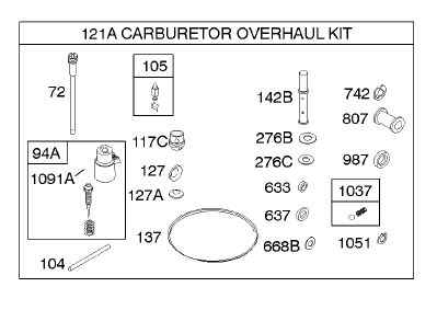 Briggs Stratton Carburetor Overhaul Kit Part No. 842886