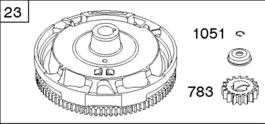 Briggs Stratton Flywheel Part No. 698282