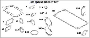 Briggs Stratton Gasket Set Part No. 299101