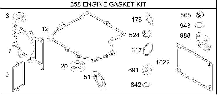 Briggs Stratton Gasket Set Part No. 495993