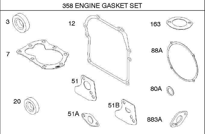 Briggs Stratton Gasket Set Part No. 795971