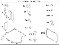 Briggs Stratton Gasket Set Part No. 690189