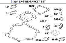 Briggs Stratton Gasket Set Part No. 715383
