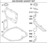Briggs Stratton Gasket Set Part No. 590508