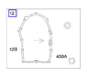 Briggs Crankcase Gasket Part Number 846037