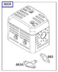 Briggs Stratton Muffler Kit Part No. 590379