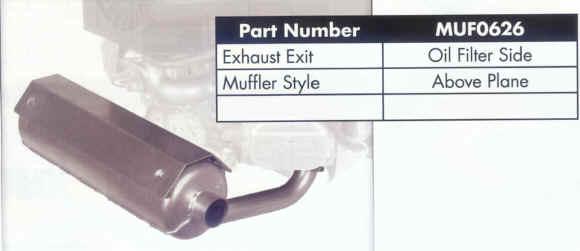 Briggs Stratton Muffler for 44 and 49 Series - MUF0626