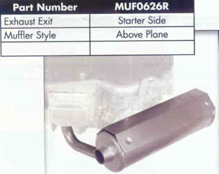 Briggs Stratton Muffler for 44 and 49 Series - MUF0626R