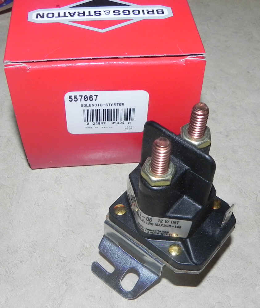 Briggs Stratton Electric Starters For Small Engines 18 Hp Vanguard Wiring Diagram Starter Solenoid Part No 846820