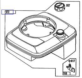 Briggs Stratton Fuel Tank Part No 802503