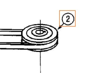 Outer Spindle Pulley Part No 78-644
