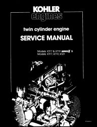 Kohler Service Manual TP-2043-A For KT17-21 Engines