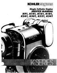 Kohler Service Manual TP-2379 For K91-341 Engines