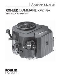 Kohler Service Manual 24 690 07 For CV18-750 Engines