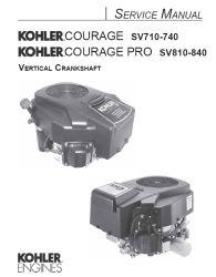 Kohler Service Manual 32 690 01 For SV710-840 Engines