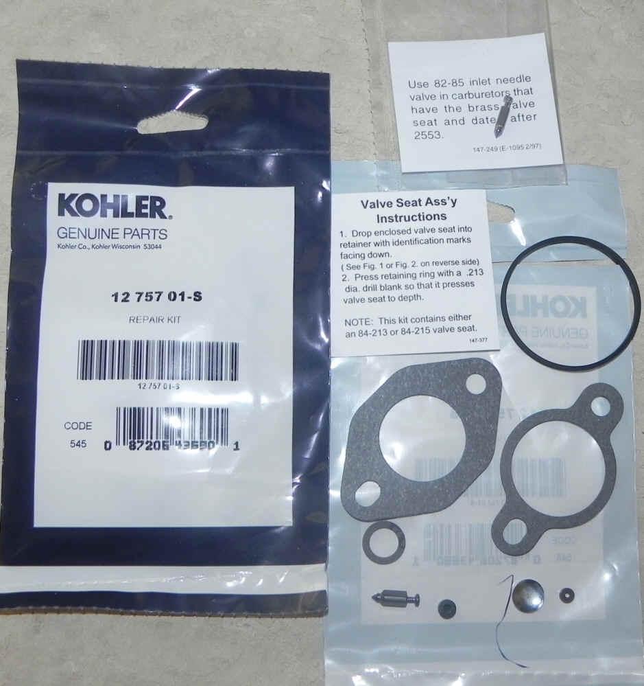 Kohler Carburetor Repair Kit 12 757 01-S