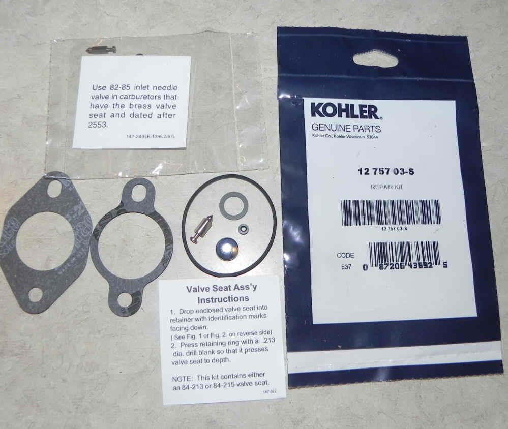 Kohler Carburetor Repair Kit 12 757 03-S