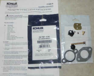 Kohler Carburetor Choke Repair Kit 12 757 11-S