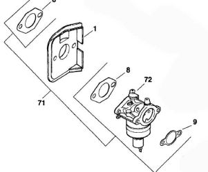 Kohler Carburetor - Part No. 12 853 16-S