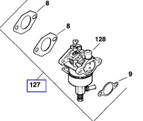 Kohler Carburetor - Part No. 12 853 25-S