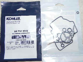 Kohler Carburetor Repair Kit 24 757 03-S