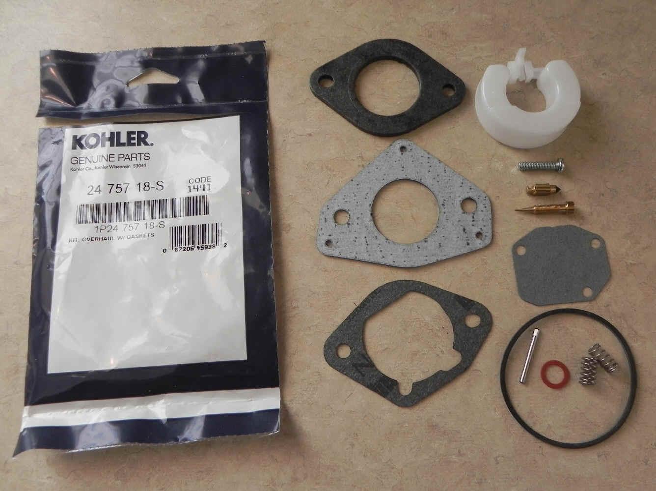 Kohler Carburetor Repair Kit 24 757 18-S