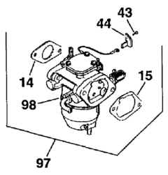Kohler Carburetor - Part No. 24 853 21-S