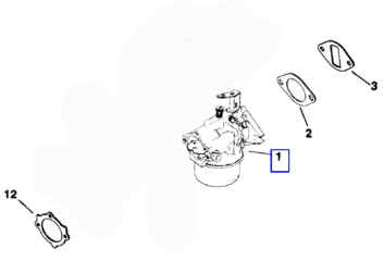 Kohler Carburetor - Part No. 45 853 09-S
