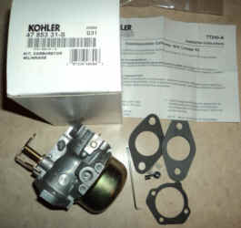 Kohler Carburetor - Part No. 47 853 31-S