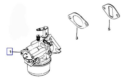 Kohler Carburetor - Part No. 47 853 40-S