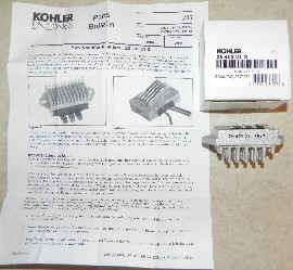 Kohler REGULATOR RECTIFIER 25 AMP Part No 25 403 21-S