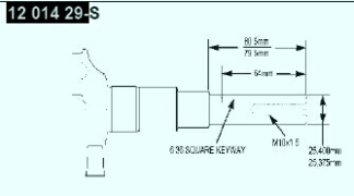 Kohler Crankshaft - Part No. 12 014 29-S