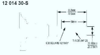 Kohler Crankshaft - Part No. 12 014 30-S