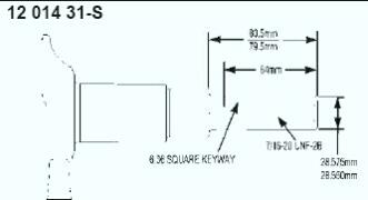 Kohler Crankshaft - Part No. 12 014 31-S