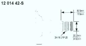 Kohler Crankshaft - Part No. 12 014 42-S