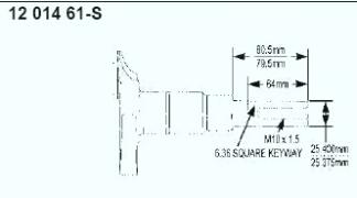 Kohler Crankshaft - Part No. 12 014 61-S