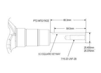 Kohler Crankshaft - Part No. 20 014 24-S