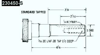 Kohler Crankshaft - Part No. 230450-S
