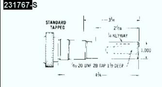 Kohler Crankshaft - Part No. 231767-S