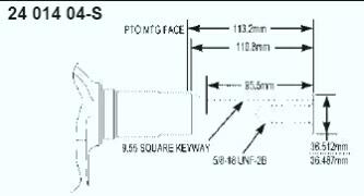 Kohler Crankshaft - Part No. 24 014 346-S