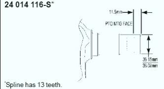Kohler Crankshaft - Part No. 24 014 415-S